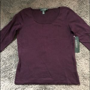 Ralph Lauren light-knit purple sweater size med